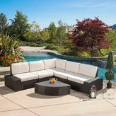 Christopher Knight Home San Vicente Outdoor 6-piece Aluminum Sofa Set with Sunbrella Cushions