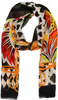 Moschino Silk Abstract Scarf
