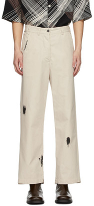 L'Homme Rouge LHomme Rouge Beige Gender Trousers