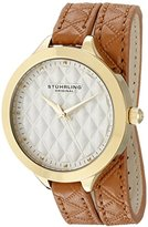 Stuhrling Original Women's 658.02 Vogue Beige Wrap Around Leather Strap Watch