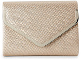 Sasha Taupe Woven Embossed Convertible Clutch