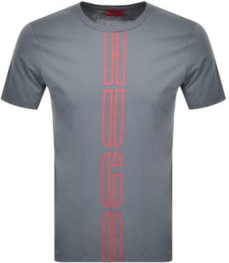 HUGO BOSS Darlon Crew Neck Short Sleeve T Shirt Grey