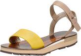 Lanvin Chunky Flat Sandal, Yellow/Multi