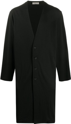 Yohji Yamamoto Single Breasted Cotton Coat
