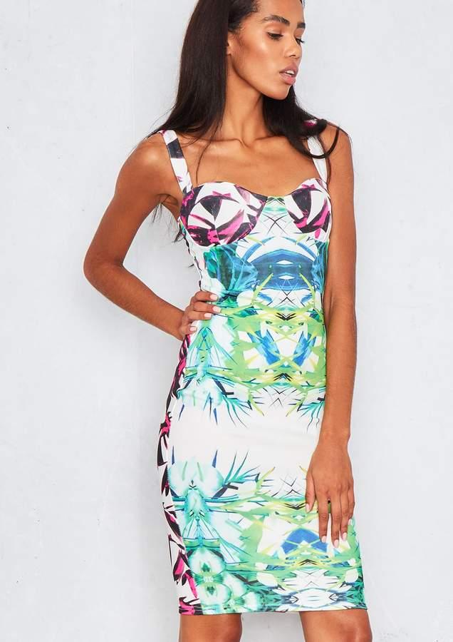 1d347cd74c4 Fliss Tropical Floral Print Bodycon Dress