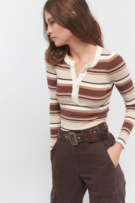 Urban Outfitters Ryan Ribbed Henley Top