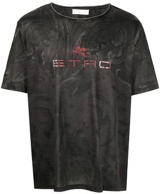 Etro paisley-print logo T-shirt
