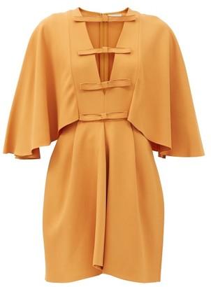 Giambattista Valli Cape-sleeved Cutout Crepe Dress - Light Brown
