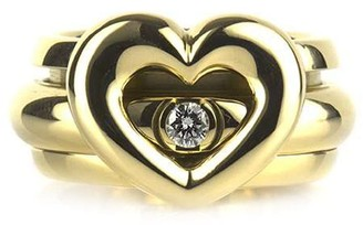 Piaget pre-owned 18kt yellow gold Possession diamond heart ring