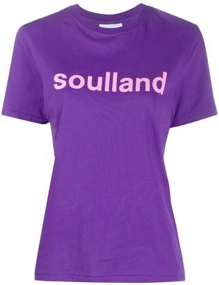 Soulland Gudrun logo print T-shirt