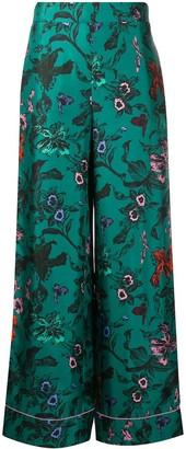 Dvf Diane Von Furstenberg Pyjama-Style Silk Trousers