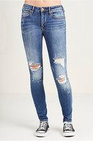 True Religion Jennie Curvy Mid Rise Super Skinny Womens Jean