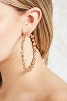 Forever 21 Snake-Chain Hoop Earrings