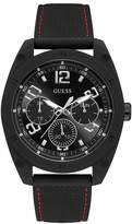 Guess Men's Black Dial Black Silicone Strap Watch