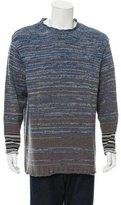 Dries Van Noten Patterned Knit Crew Neck Sweater