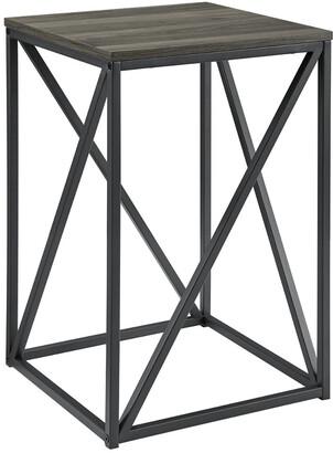 Hewson 16In Modern Geometric Square Side Table