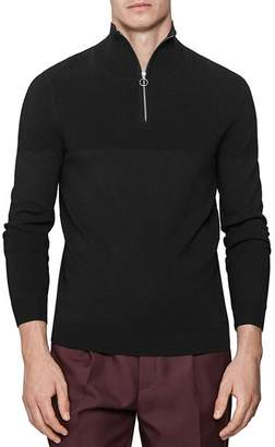 Reiss Harold Ottoman Partial Zip Sweater