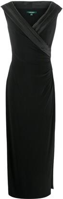 Lauren Ralph Lauren Leonetta pleated front gown