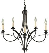 Feiss Boulevard 5-Light Chandelier with Candelabra Sockets