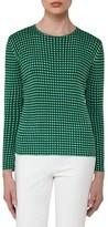 Akris Women's Check Jacquard Knit Silk Top
