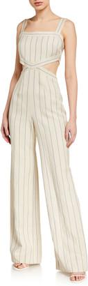 Alexis Lipton Striped Cutout Jumpsuit