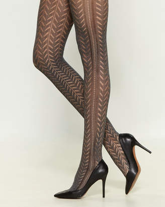 Pierre Mantoux Spine Patterned Tights