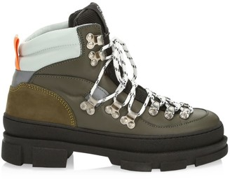 Ganni Leather Hiking Boots