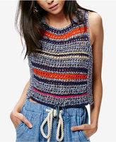 Free People Striped Sweater Vest