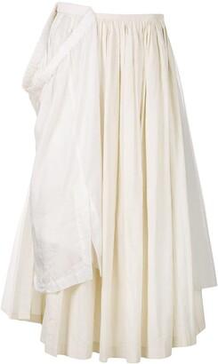 Comme Des Garçons Pre-Owned Layered Applique Maxi Skirt