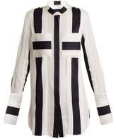 ADAM by Adam Lippes Striped-jacquard cotton-blend shirt