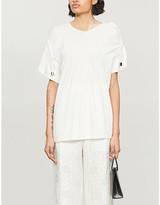 Selfridges Act N1 Asymmetric-neck cotton T-shirt