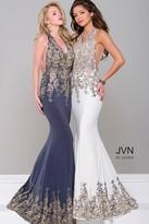 Jovani Halter Neck Open Back Jersey Dress JVN41761