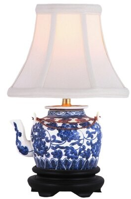 "World Menagerie Hobson Tea Pot 12"" Table Lamp"