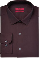 Alfani RED Men's Burgundy Diagonal-Stripe Dress Shirt, Only at Macy's