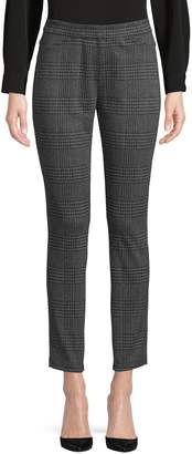 Halston H Plaid Cropped Pants