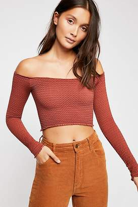 Free People Textured Long Sleeve Crop by Intimately at