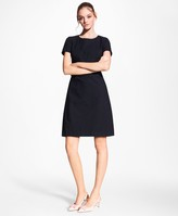 Brooks Brothers Petite Stretch-Cotton Jacquard Shift Dress