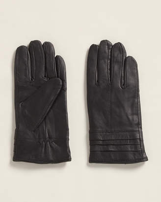 MARCUS ADLER Ribbed Cuff Leather Gloves