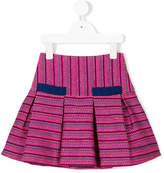 Oscar De La Renta Kids flared tweed skirt