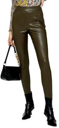 Topshop Piper Skinny-Fit Faux Leather Pants