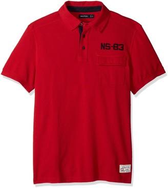 Nautica Men's Short Sleeve Slim Fit Vintage Heritage Look Polo Shirt