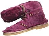 Prada Pink Pony-style calfskin Boots