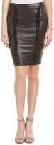 Hale Bob Alona Stretch Fringe Pencil Skirt
