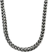 JCPenney FINE JEWELRY Mens Stainless Steel & Black IP 24 8mm Foxtail Chain