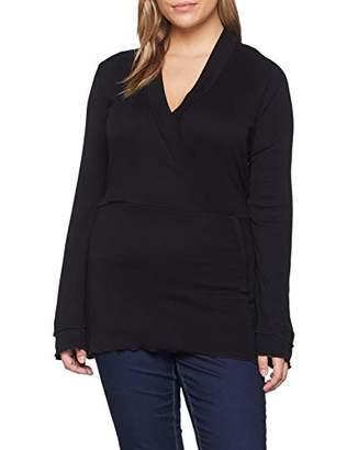 LOST INK PLUS Women's WRAP TOP Regular Fit Plain V-Neck Long Sleeve Long Sleeve Top,26 (Manufacturer Size:)