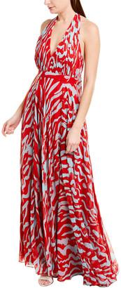 Prabal Gurung Halter Silk Maxi Dress