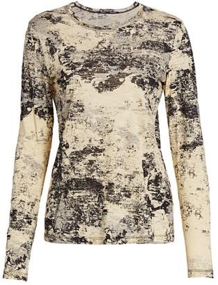 Proenza Schouler Printed Long Sleeve T-Shirt