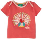 Little Green Radicals Peacock In Applique Tees (Baby) - Rose Pink-9 Months
