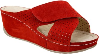 David Tate Suede Slip-On Wedges - Iconic