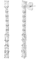 Bliss Sterling Silver & Cubic Zirconia Marquise Bar Post Earrings